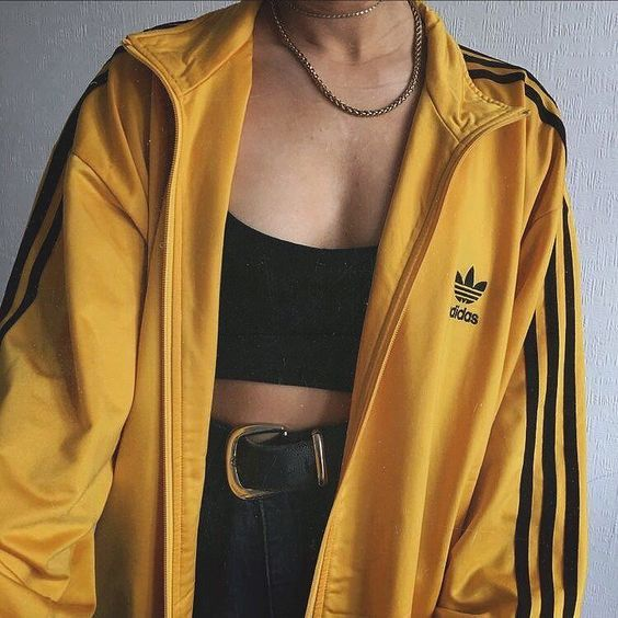 ADIDAS ORIGINALS JACKET BLACK RED BLUE YELLOW Size Depop