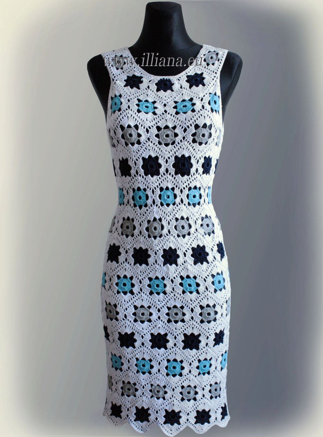 Dress. Crochet Pattern No 229.