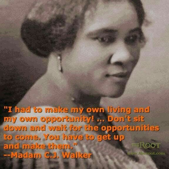 Madam Cj Walker Quotes Unique Madam Cj Walker  Conscious Awake  Pinterest 2017