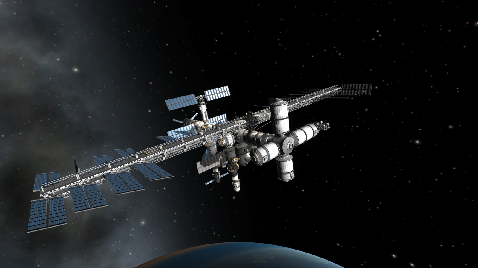 A very cool and large space station in Kerbal Space ...