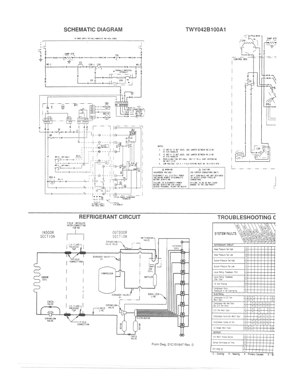 Trane Air Conditioner Parts Diagram