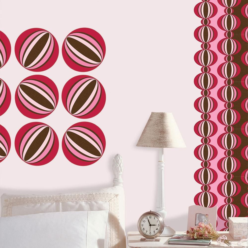 Obedding Brewster Home Fashions Loopy Red Dots Wall Accent