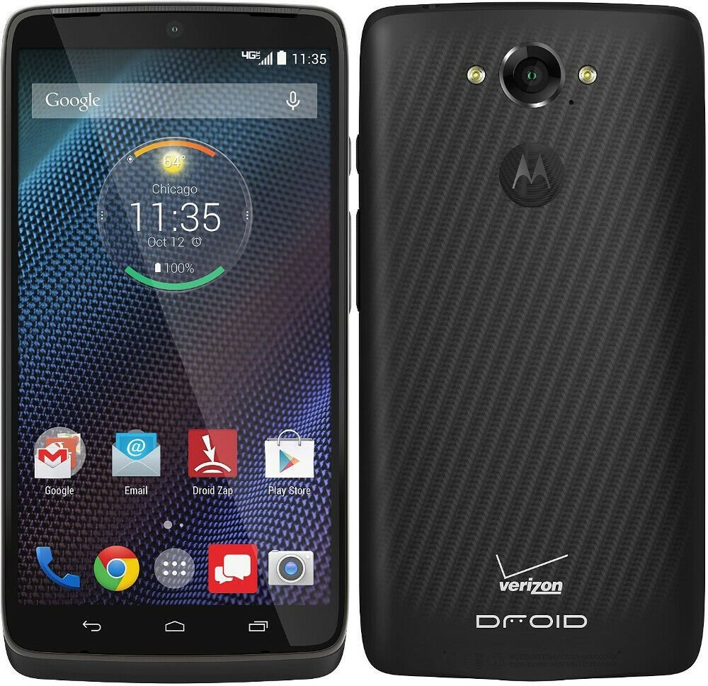 Motorola Droid Turbo Xt1254 Black 32gb Verizon Tmobile 4g Lte Unlocked Gsm Motorola Bar In 2020 Droid Phone Refurbished Phones Phone
