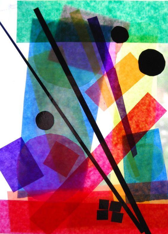 3 Beide Folien zusammen geklebt (Tesafilm) Kunst, diverse - design des projekts kinder zusammen