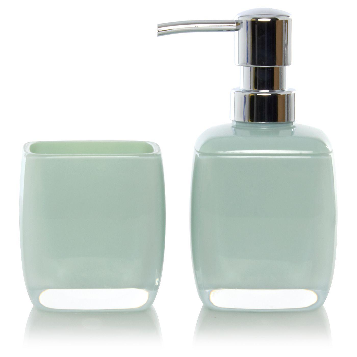 george home mint acrylic bathroom accessories greens asda direct