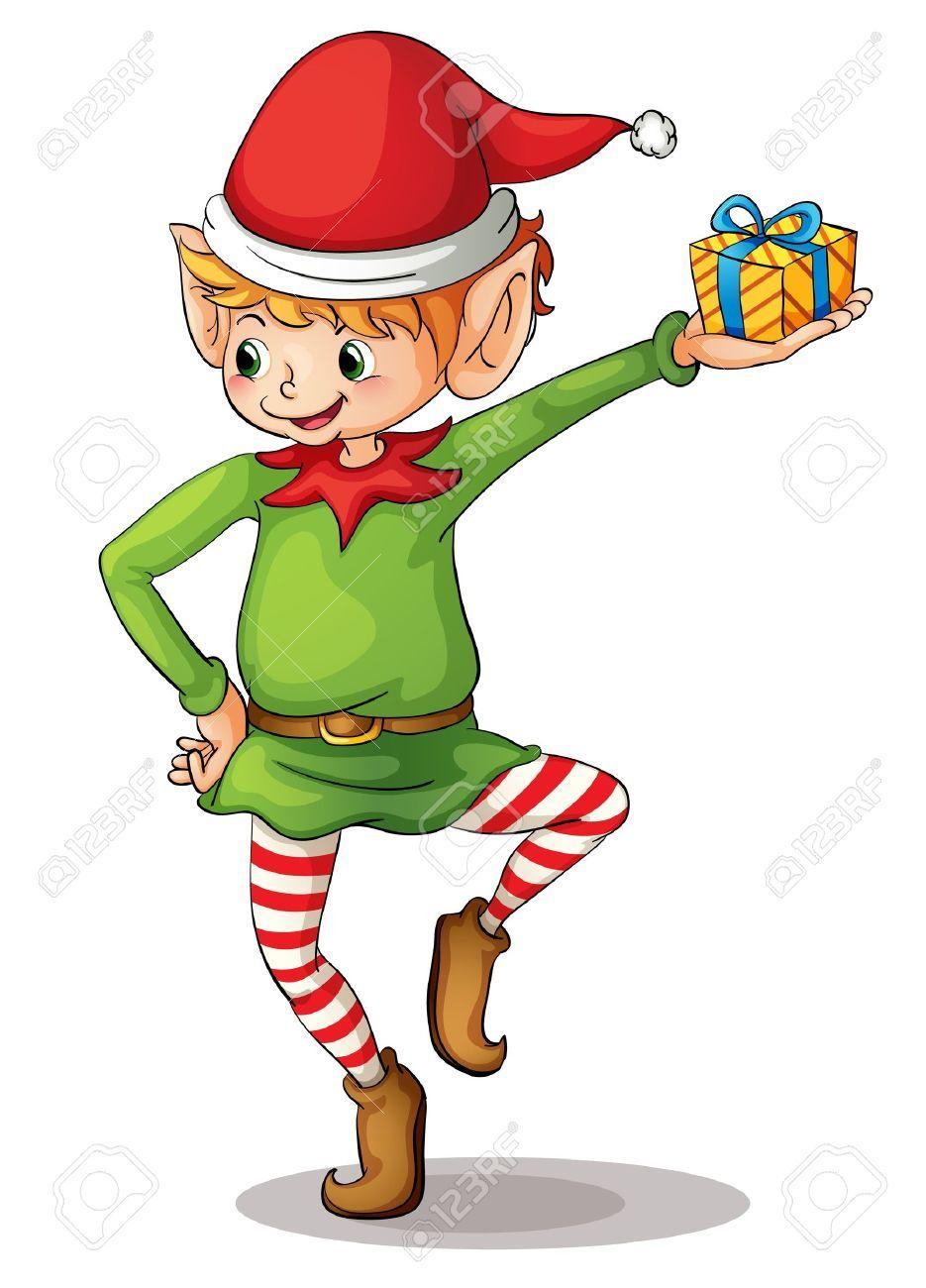illustration of a christmas elf pinterest elves santas workshop rh pinterest com free elf clipart black and white free clipart elf hat