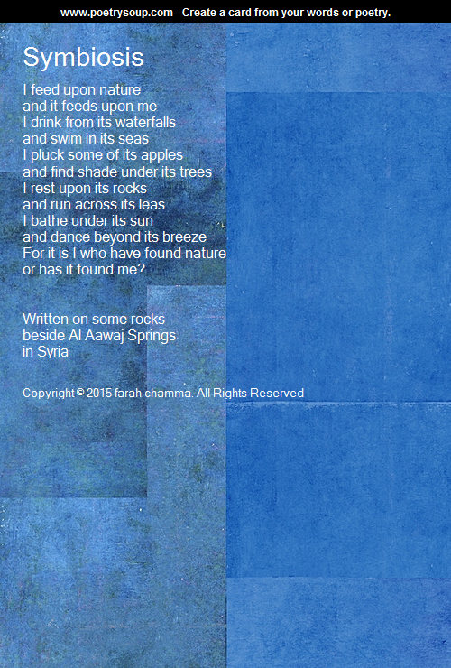 This poem is by Farah Chamma that gives a slightly different perspective on symbiosis. Poetry can be more difficult for students to understand this text might be a little challenging for middle school students. The poem can be used to discuss symbioses further and outside of the context of science. The text has a Lexile Score of 1700 and the suggested reading level is 8-9.  The poem gets 3/5 stars.
