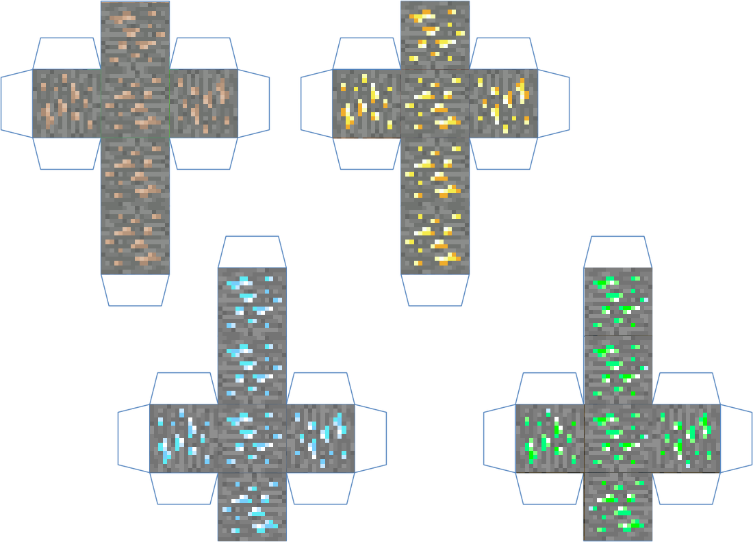 coloring pages minecraft ores - photo#4