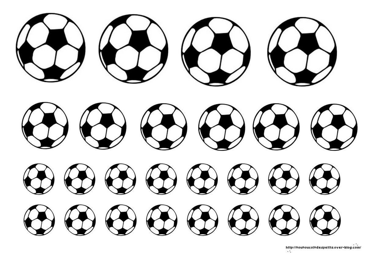 Cadre football handball photo ou empreinte de main - Dessin ballon foot ...
