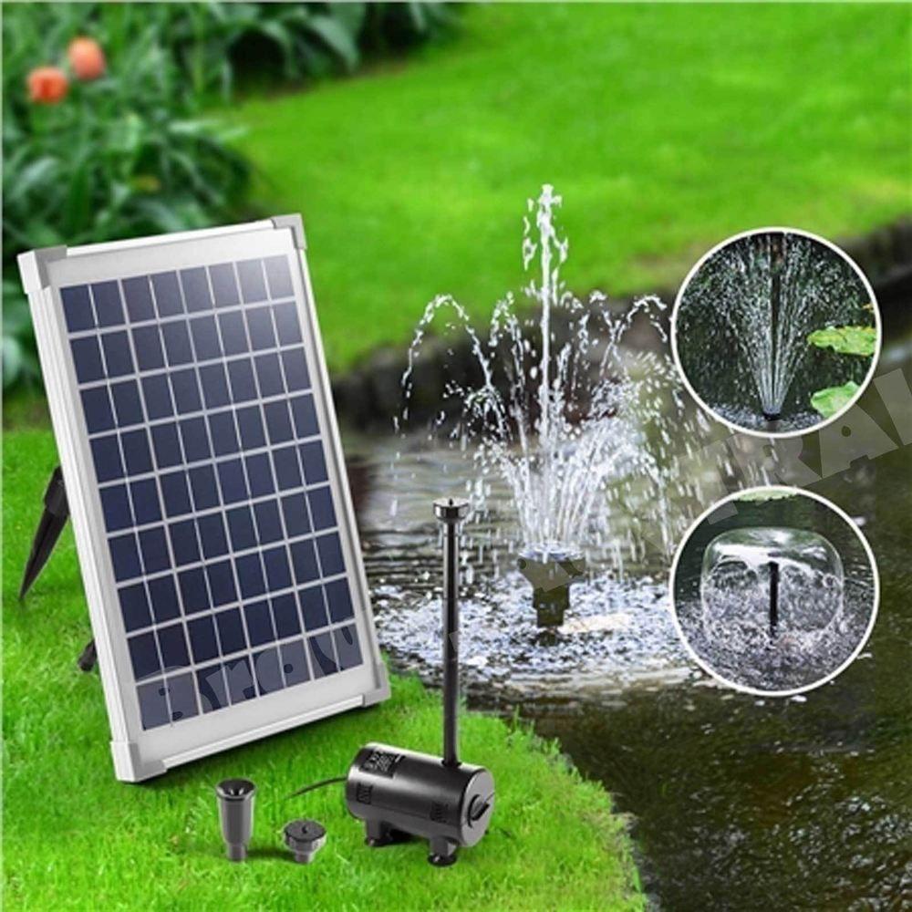 Solar Powered Pond Water Pump Fountain Submersible Kit Power Garden