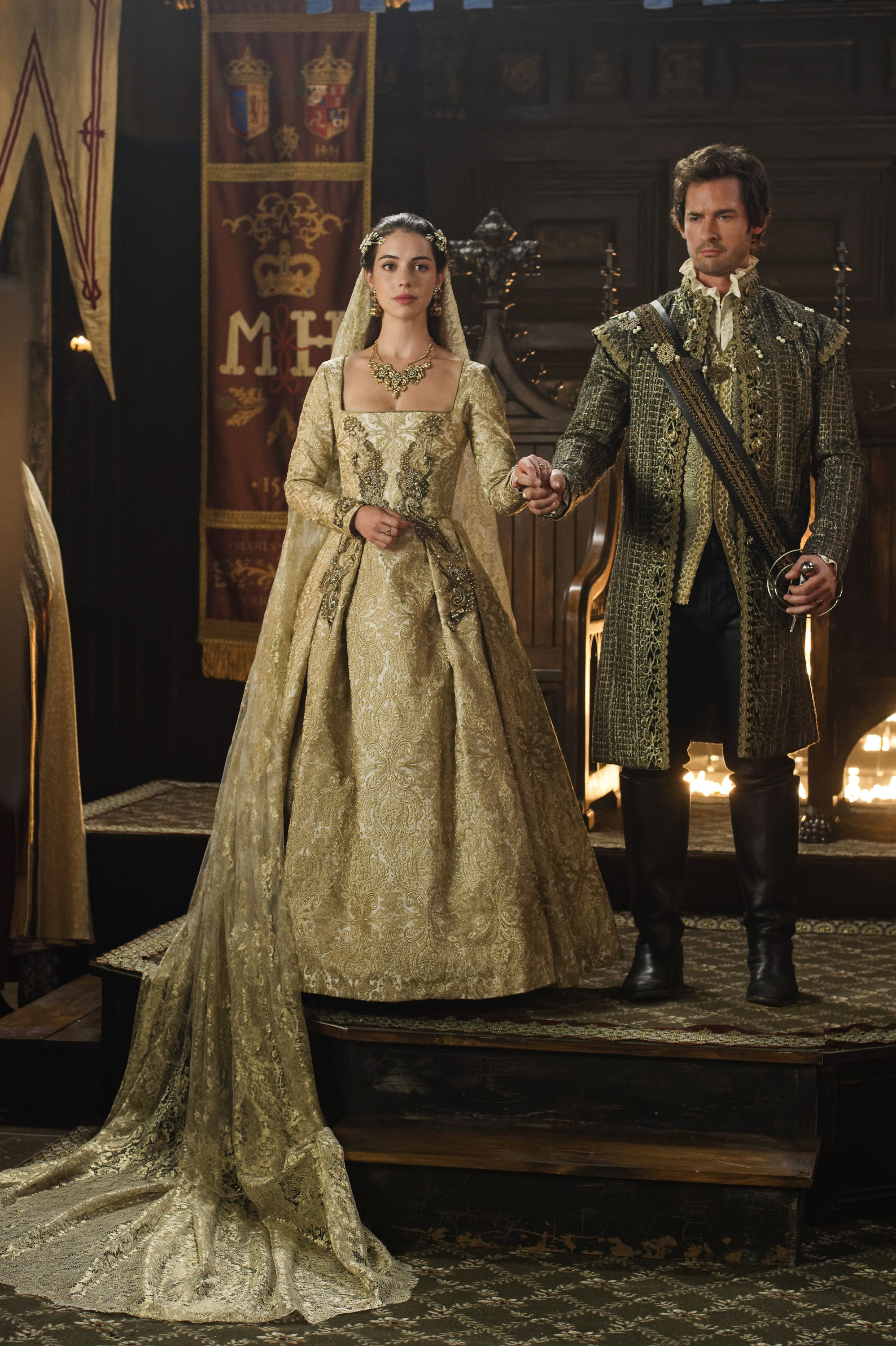 Reign queen mary and lord darnley reign series for Reign mary wedding dress