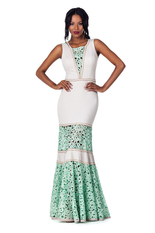 Comprar vestido longo renda guipir