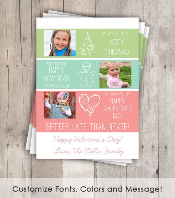 Belated christmas cards funny valentine day cards better late belated christmas cards funny valentine day cards better late than never photo cards m4hsunfo
