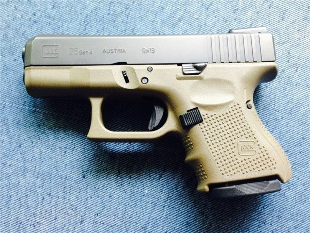 Glock 26 Gen4 OD Green Frame, Night Sights - http://gunsforsalebuy ...