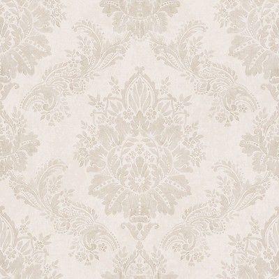 Details zu Barock Tapete Pastell Farben Ornamente Klassik von - wohnzimmer rot grau beige