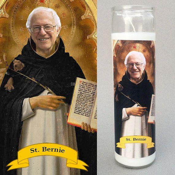 Bernie Sanders Prayer Candle - Gift under 15 Dollars - Feel the ...