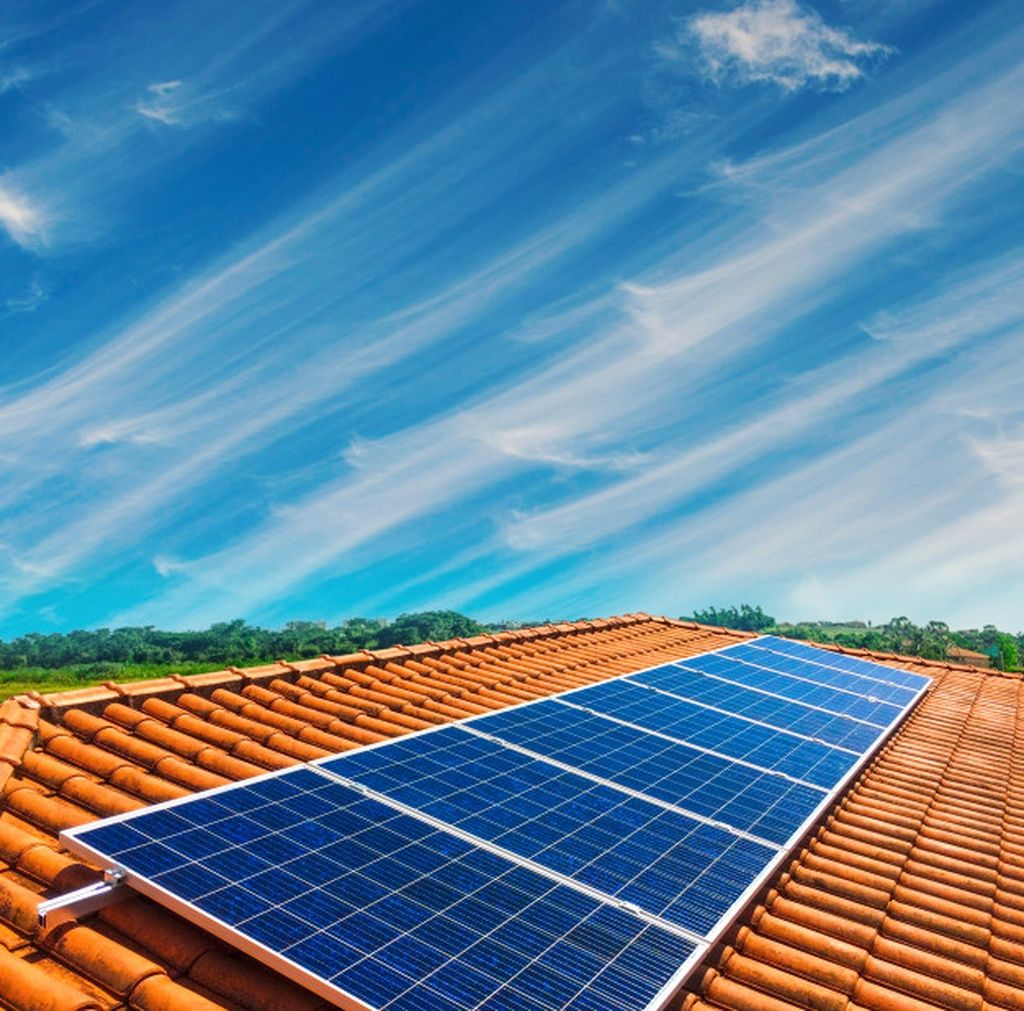 Solar Panel Photovoltaic Installation On A Roof Alternative Electricity Source Paid Ad Sponsored Photovoltai In 2020 Solar Panels For Home Solar Panels Solar