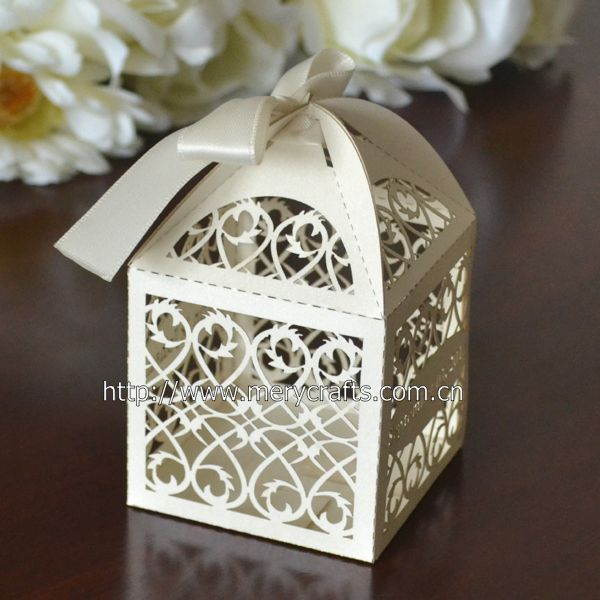 laser cut filigree wedding favors and gifts box with free name
