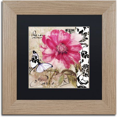 Trademark Fine Art Le Pink Canvas Art by Color Bakery Black Matte, Birch Frame, Size: 16 x 16, Assorted