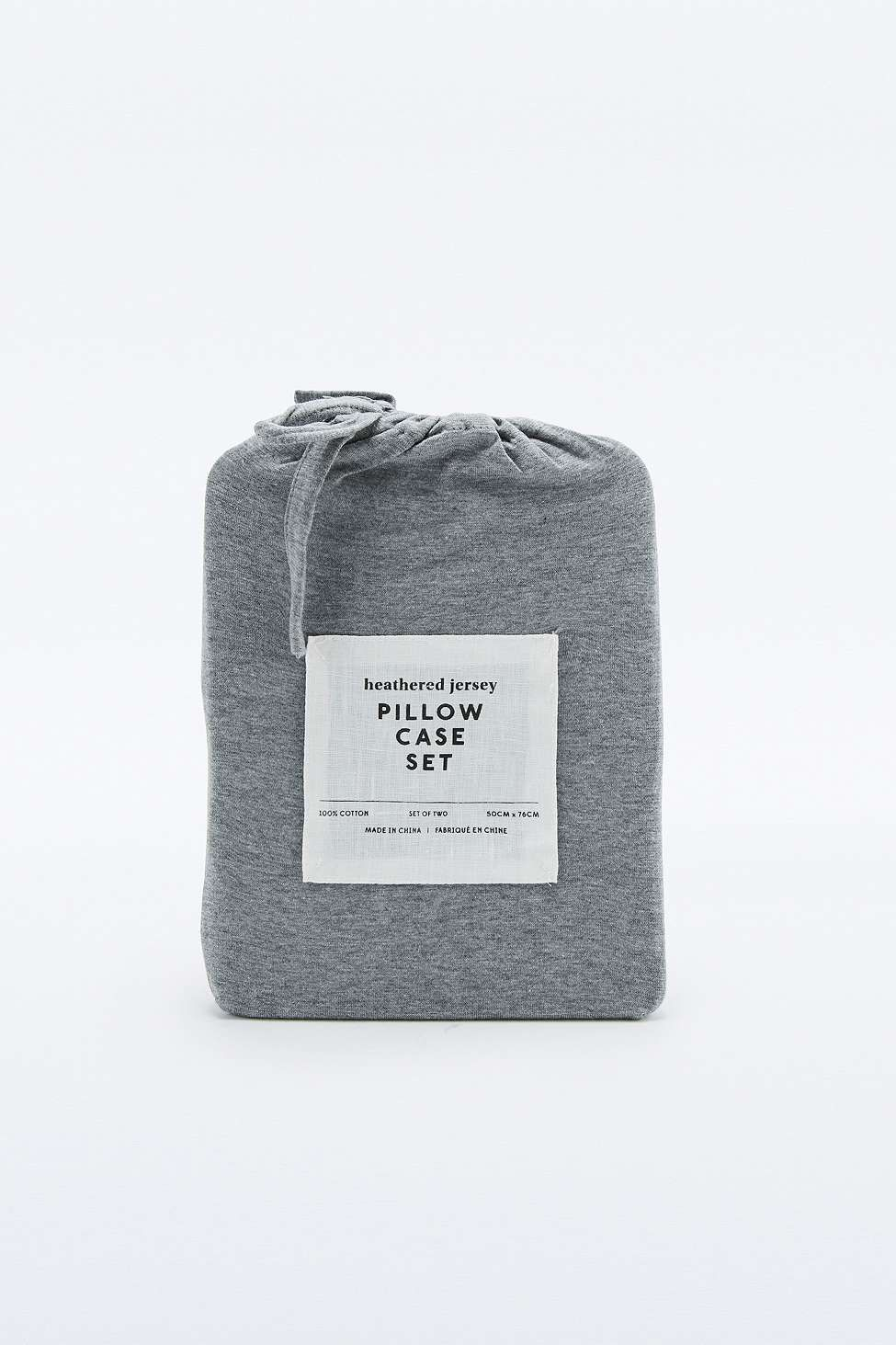 Heathered Grey Jersey Pillowcase Set Urban outfitters