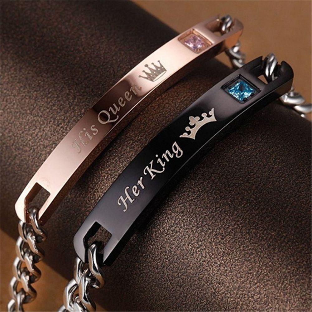 Her King His Queen Romantic Couple Bracelets Pulseras Para
