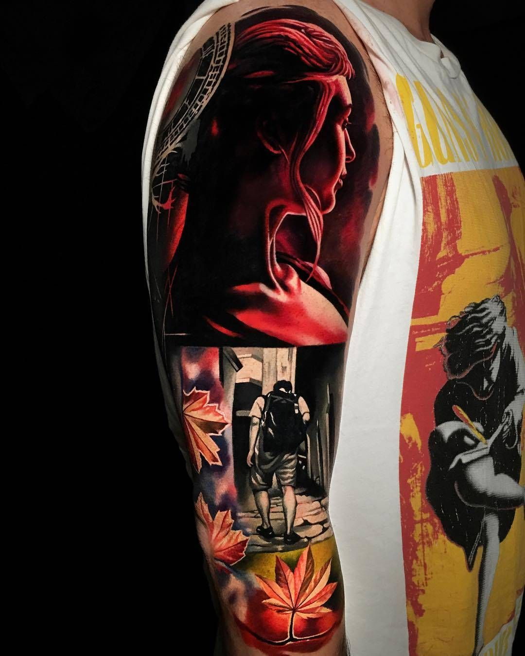 Collage in tattoos by emanuel oliveira world famous
