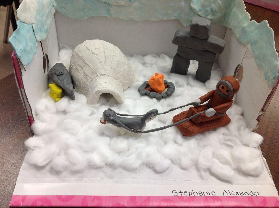 inuit diorama projects pinterest dioramas social