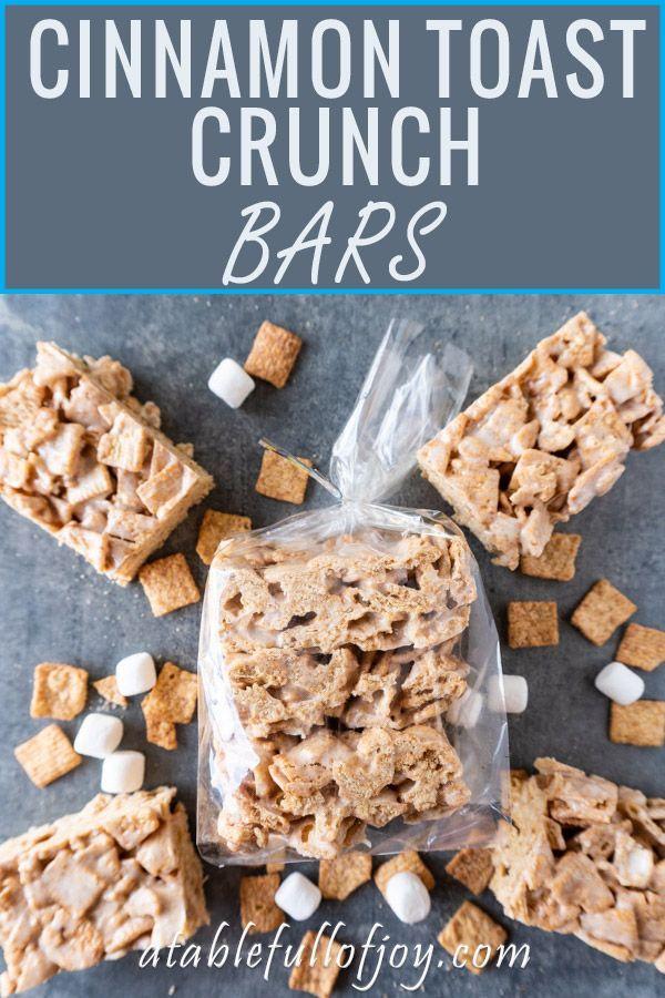 Cinnamon Toast Crunch Bars • A Table Full Of Joy