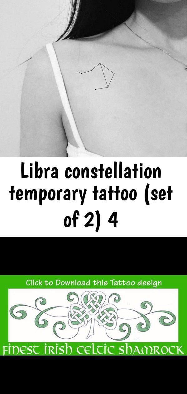 Photo of Libra Constellation temporäres Tattoo (2er Set) 4, #constellation #Libra #libraconstellation …