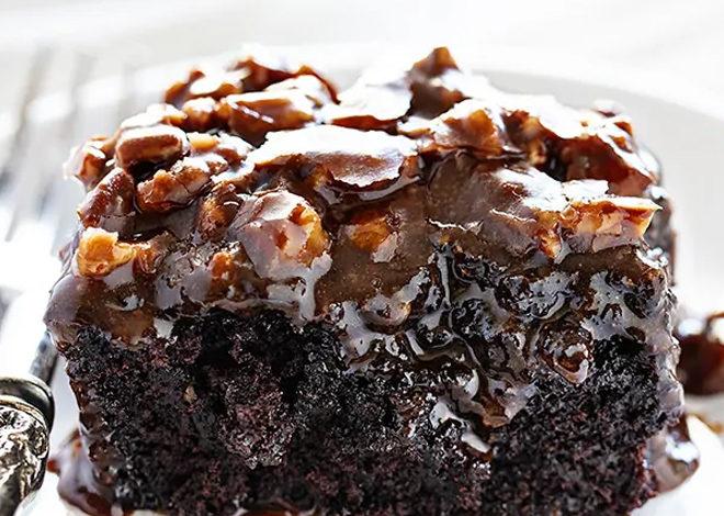 Dark Chocolate Cake With Buttermilk Pecan Frosting Lynn Blog Journey In M In 2020 Buttermilk Chocolate Cake Dark Chocolate Cakes Dark Chocolate Cake Recipes