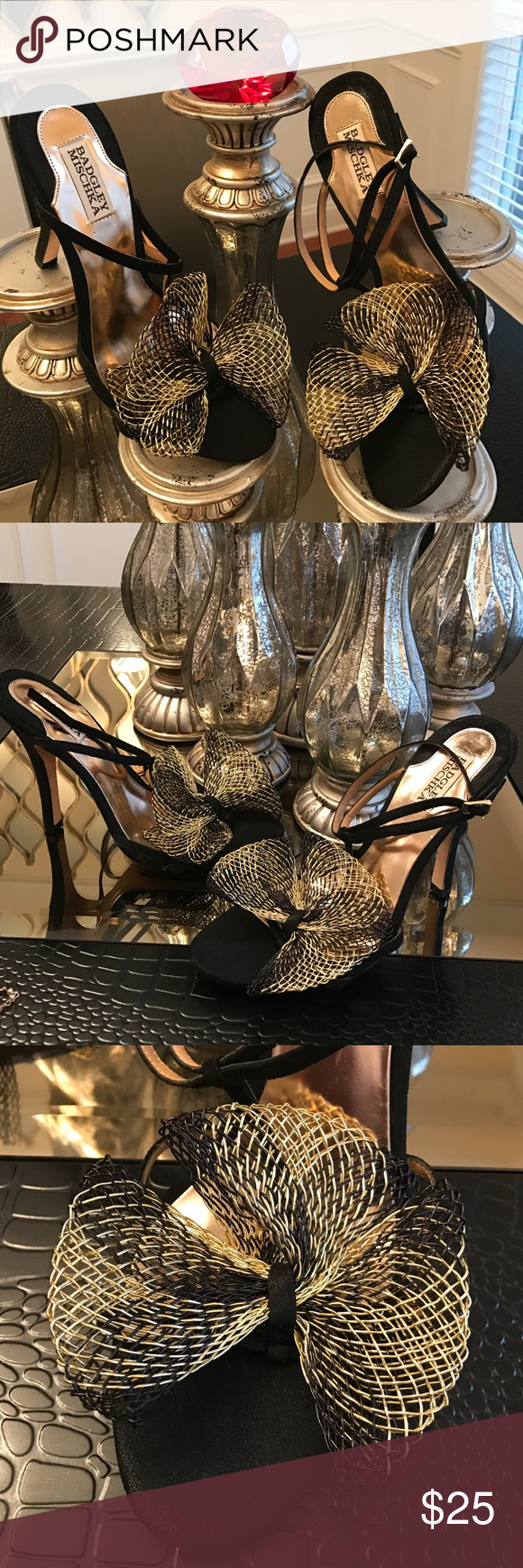 Badgley mischka sz 10 heels never worn If these babies don't scream sex in the city I don't know what does, they are adorable and I'm sure they would be Carrie approved. Badgley mischka heels sz 10 never worn. Badgley Mischka Shoes Heels