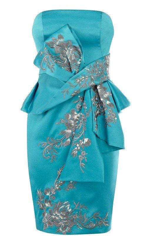 0d4e8aae1dd1 Karen Millen Satin Printing Dress DQ640 Blue
