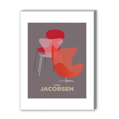 Americanflat Visual Philosophy Arne Jacobsen Graphic Art Size: