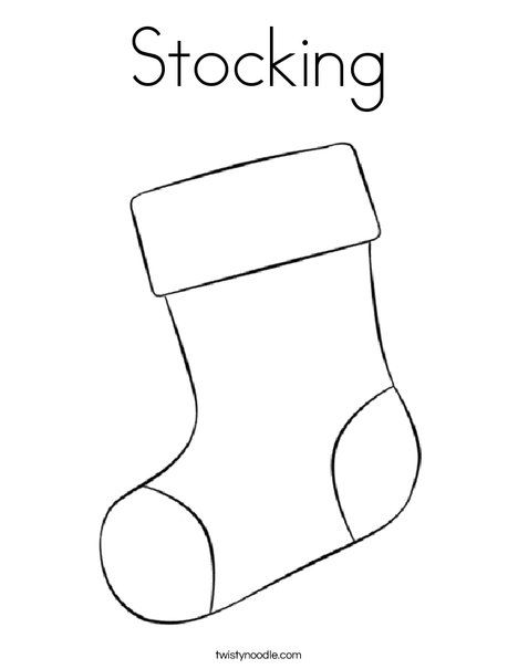 Drawings Of Christmas Stockings.Stocking Coloring Page Tracing Twisty Noodle Coloring