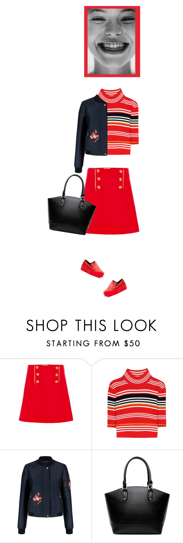 """""""school uniform 2016"""" by bodangela ❤ liked on Polyvore featuring Clover Canyon, Alessandra Rich, Vic Matié, women's clothing, women's fashion, women, female, woman, misses and juniors"""