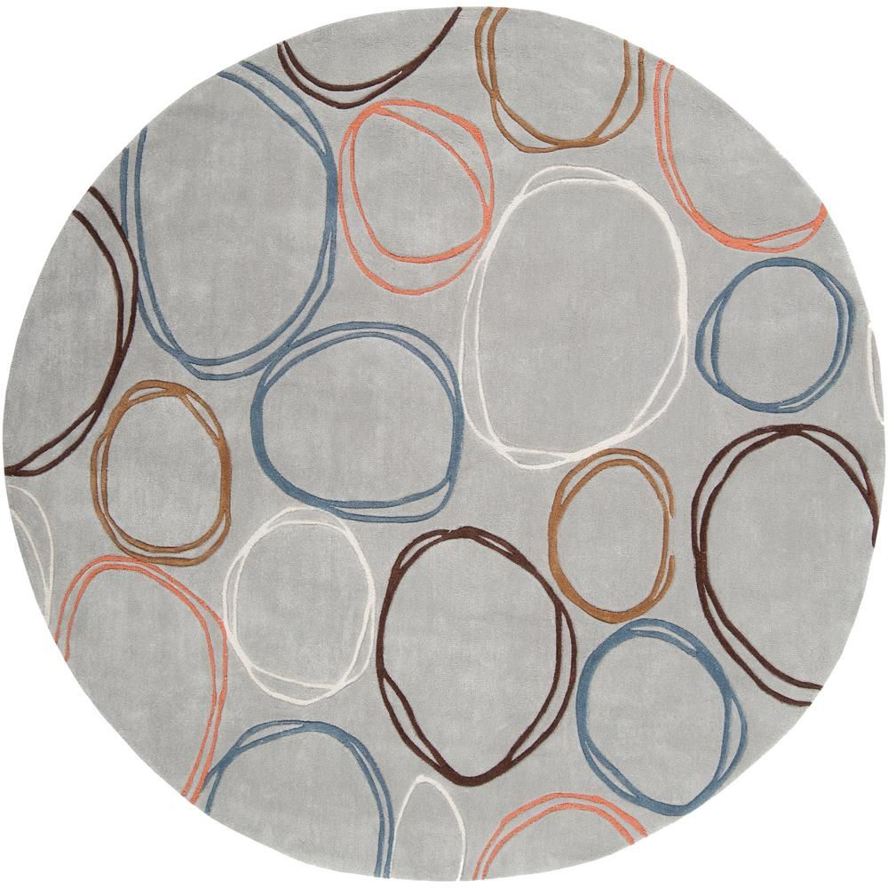 Artistic Stairs Canada: Artistic Weavers Encinitas Blue Gray 8 Ft. X 8 Ft. Round