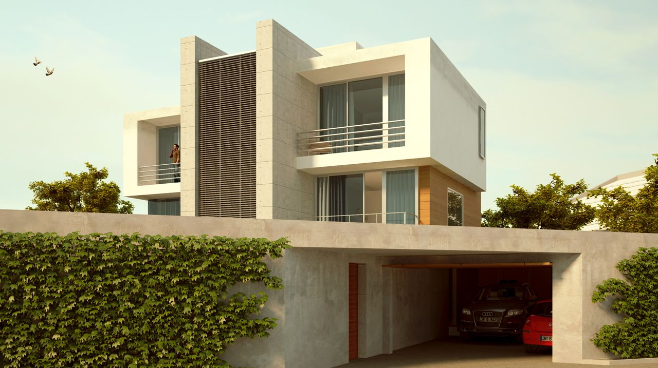 Ultra modern house with underground garage modern for Underground garage plans