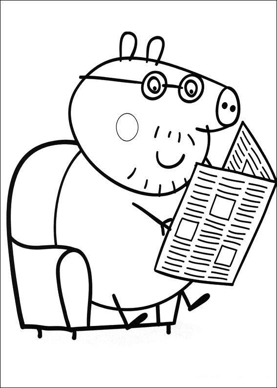 Peppa Pig Ausmalbilder. Malvorlagen Zeichnung druckbare nº 4 ...