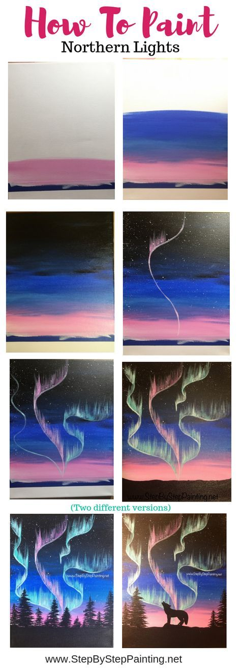 How to Paint Aurora Skyline is part of Portrait drawings Tips Learning - Intro This step by step acrylic painting tutorial will show you an easy way you can paint an Aurora Borealis Skyline! Then you can add a silhouette tree skyline or even shadowy figures like a wolf or a polar bear  I'll show you some options that I did to     Read moreHow to Paint Aurora Skyline