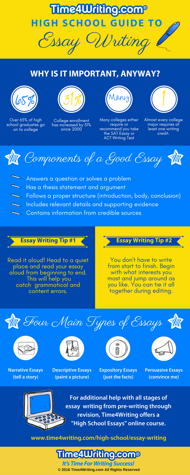 high school essay writing infographic
