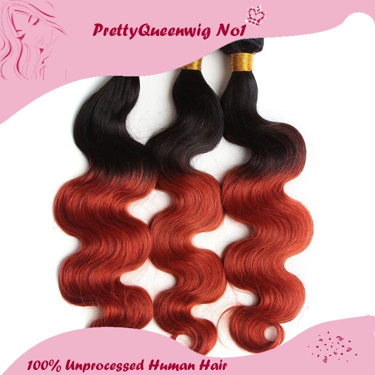 Hot Sale Remy Virgin Hair Brazilian Hair Ombre Color 1b350 Body