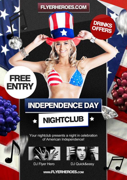 24 u2013 4th July \/ Independence Day Flyer Template 30-stunning-free - independence day flyer