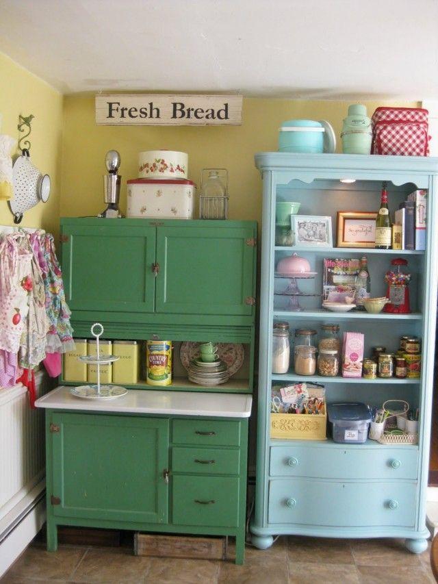 Vintage: estilo retro clásico en la cocina | Cocinas muebles de ...