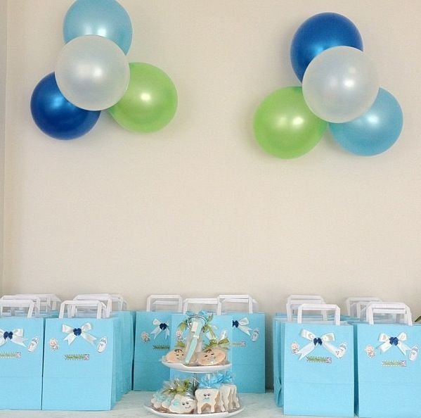 Baby Babyboy Party Favors Teeth First Teeth Blue Gift