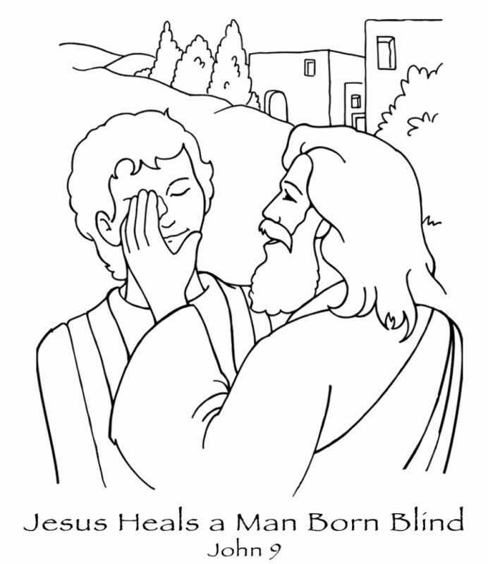 New Coloring Page Jesus Heals A Man Born Blind John 9 A Href Http ...