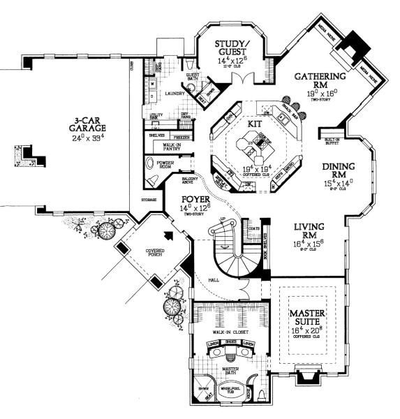 The Kitchen Is At The Center Of This Design Hmafapw00718 From Homeplans Com With The Home S Spaces For Both House Floor Plans Dream House Plans How To Plan