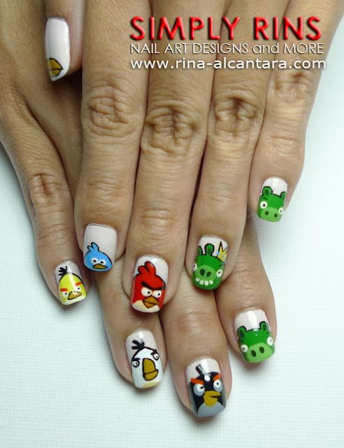 Angry Birds Nails by Simply Rins | Nail Art | Pinterest | Angry ...