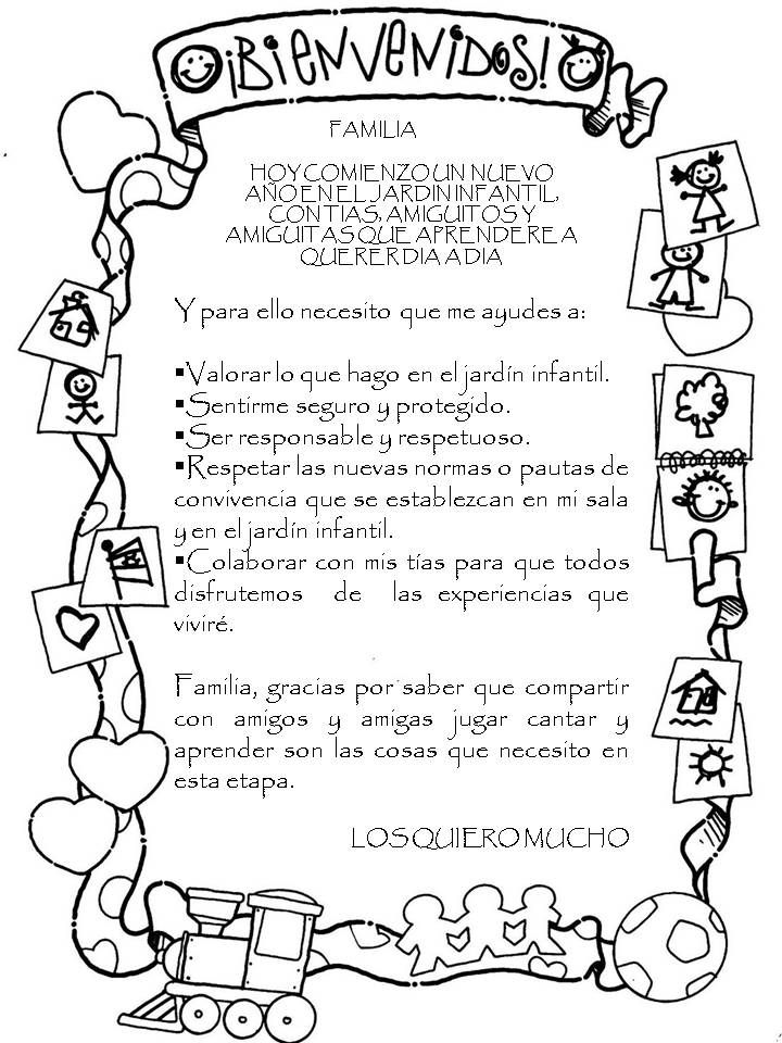 Material educativo para maestros bienvenida regreso a for Cancion de bienvenida al jardin