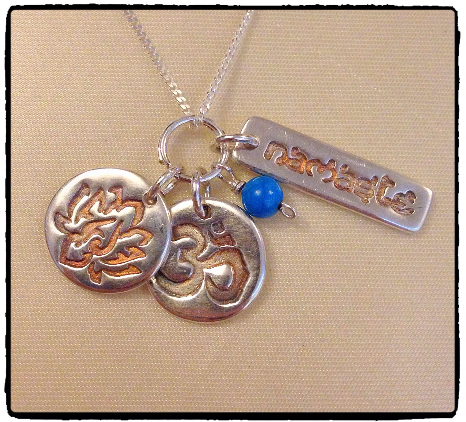 Fine Silver Clay Yoga Jewellery Namaste Is The Sanskrit Greeting