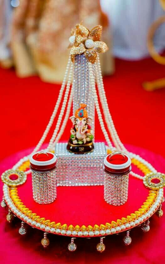 Pin By Ekta Patel On Wedding Decor Pinterest Engagement Wedding Amazing Indian Wedding Tray Decoration